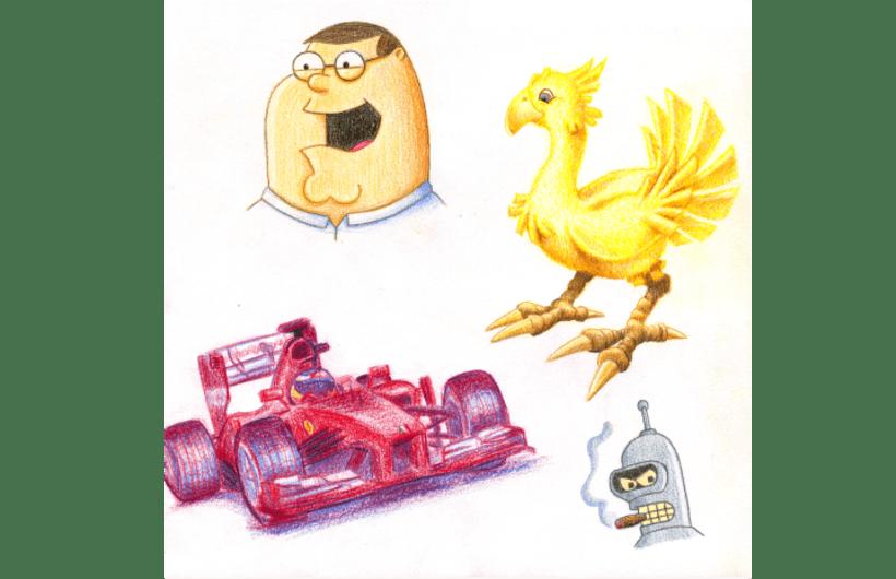Ilustraciones hechas con técnicas tradicionales 4