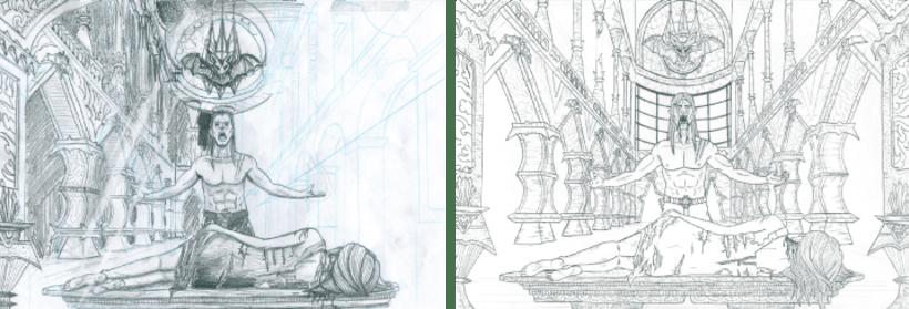 Ilustraciones hechas con técnicas tradicionales 13
