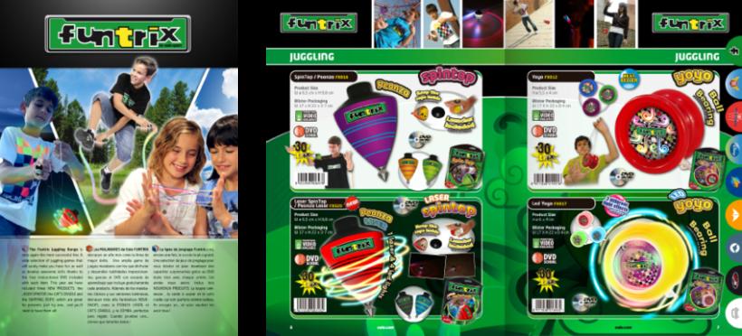 Diseño de catálogos de juguetes y cometas para Eolo-Sport 4
