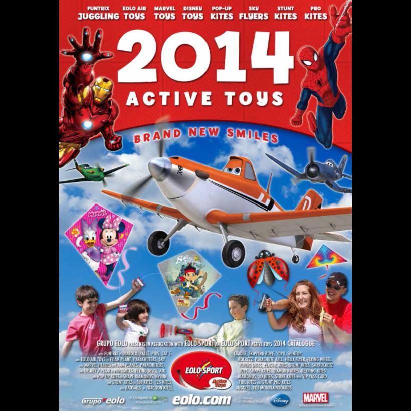 Diseño de catálogos de juguetes y cometas para Eolo-Sport 1