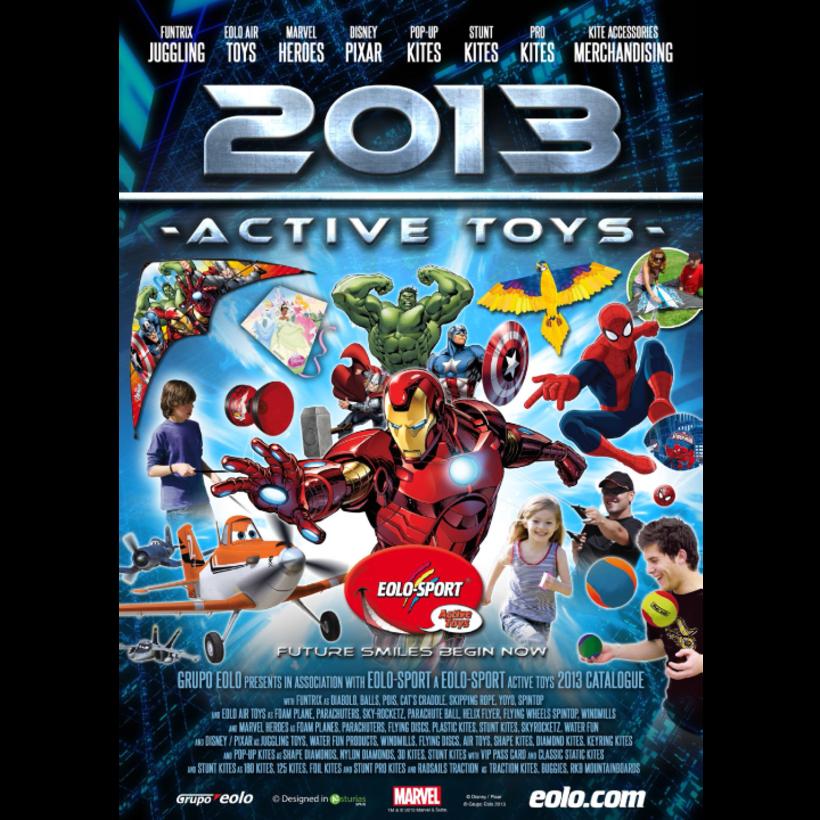 Diseño de catálogos de juguetes y cometas para Eolo-Sport 2