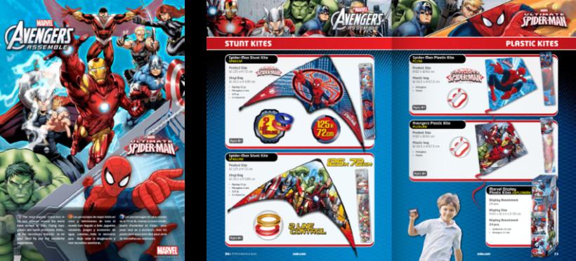 Diseño de catálogos de juguetes y cometas para Eolo-Sport 7