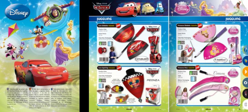 Diseño de catálogos de juguetes y cometas para Eolo-Sport 8