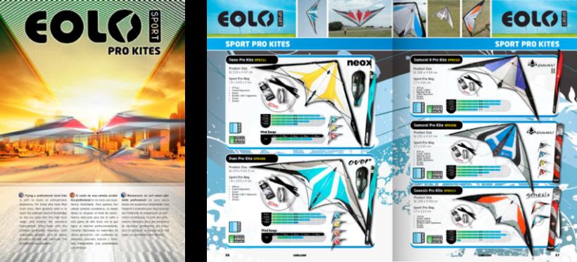 Diseño de catálogos de juguetes y cometas para Eolo-Sport 9