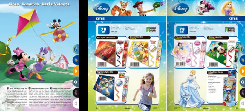 Diseño de catálogos de juguetes y cometas para Eolo-Sport 11