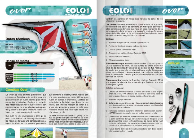 Diseño de catálogos de juguetes y cometas para Eolo-Sport 14