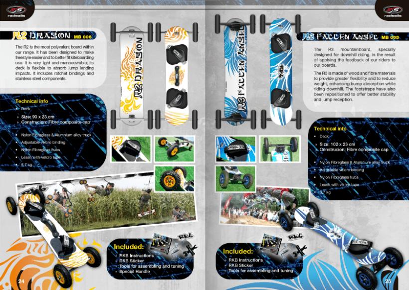 Diseño de catálogos de juguetes y cometas para Eolo-Sport 17