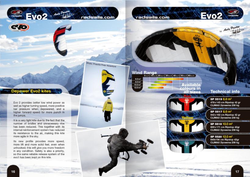 Diseño de catálogos de juguetes y cometas para Eolo-Sport 18