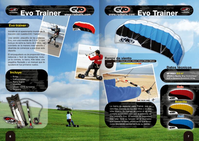 Diseño de catálogos de juguetes y cometas para Eolo-Sport 20
