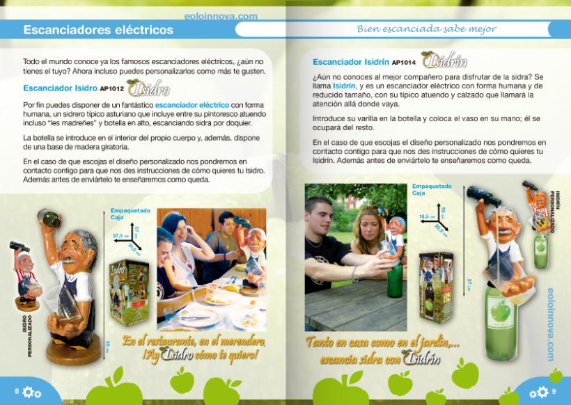 Diseño de catálogos de juguetes y cometas para Eolo-Sport 22