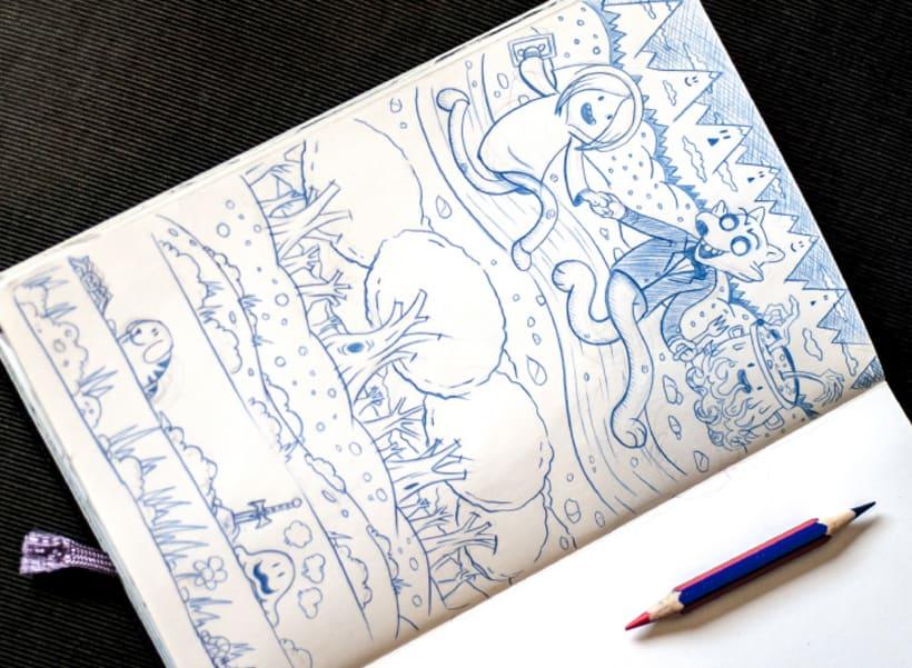 Ilustración Pop-Up de Caperucita Roja 5