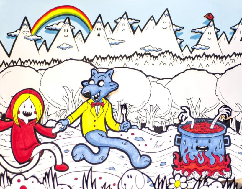 Ilustración Pop-Up de Caperucita Roja 6