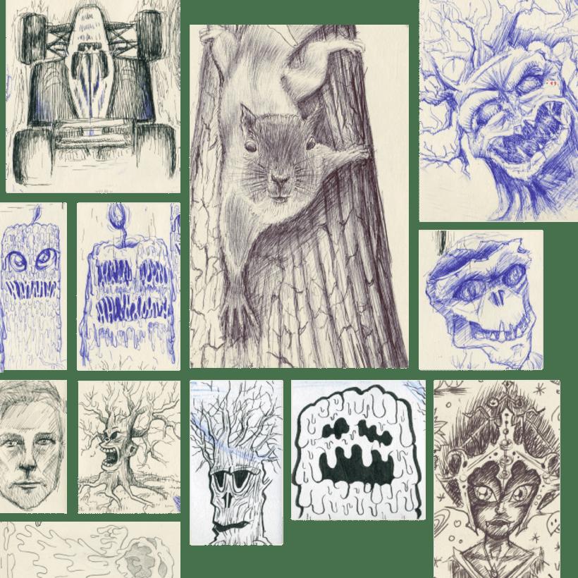 Recopilación de bocetos a lápiz de mi moleskine 4