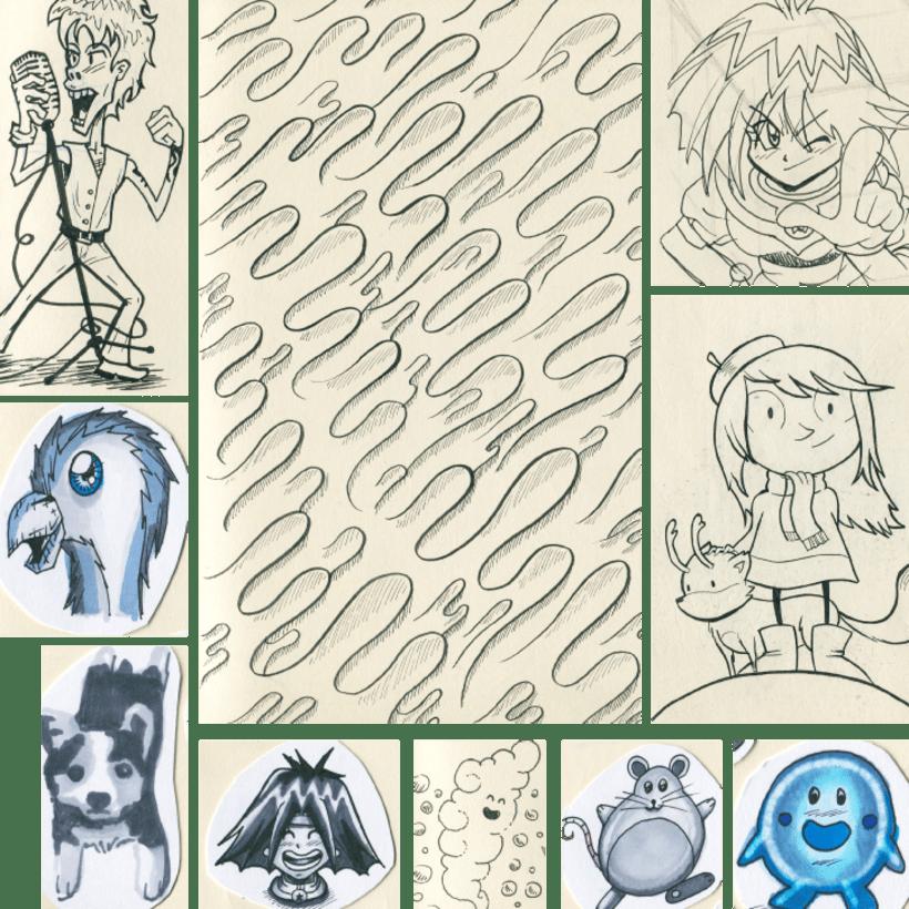 Recopilación de bocetos a lápiz de mi moleskine 9