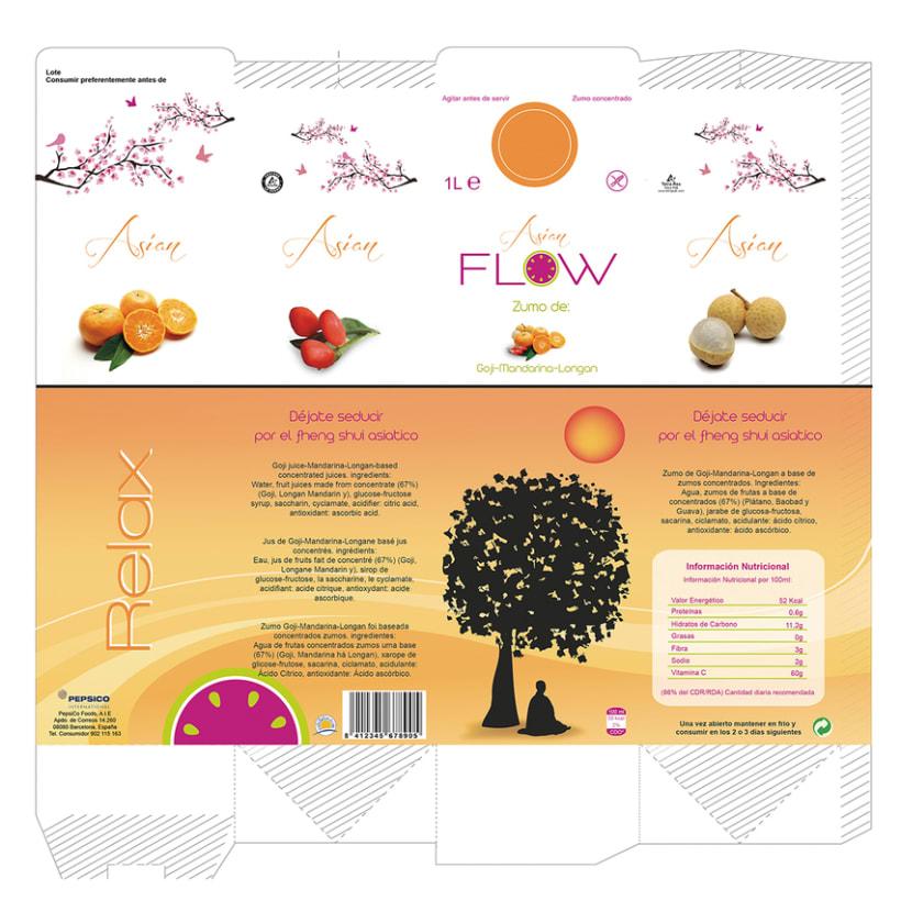 Logormarca y packaging Zumos Flow 5