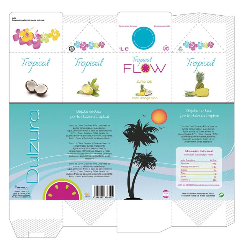 Logormarca y packaging Zumos Flow 6
