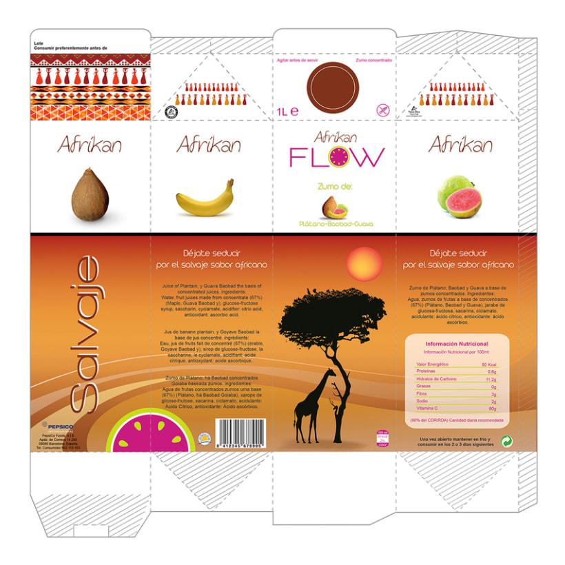 Logormarca y packaging Zumos Flow 7