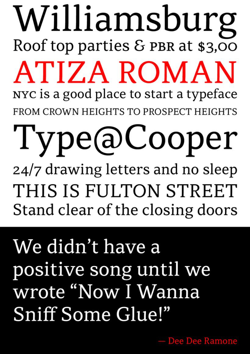 Atiza Typeface 2