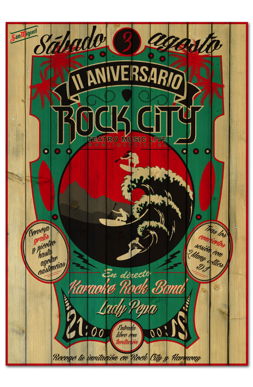 II ANIVERSARIO ROCK CITY | poster & plus 0