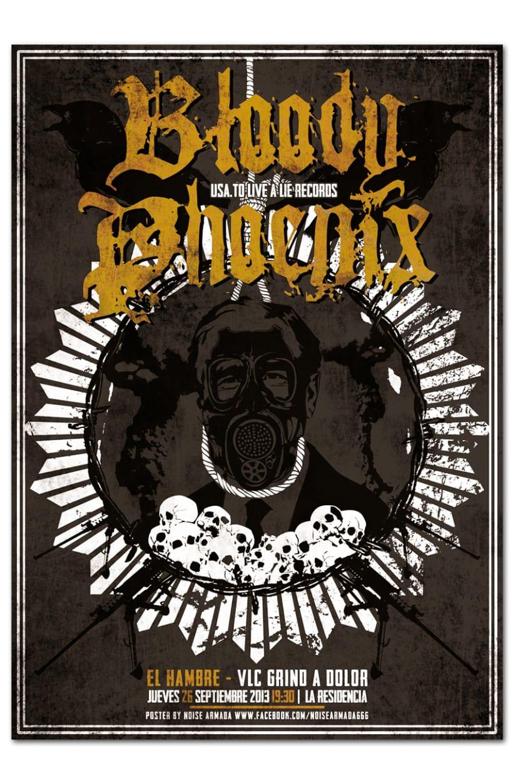 BLOODY PHOENIX + EL HAMBRE | poster 0