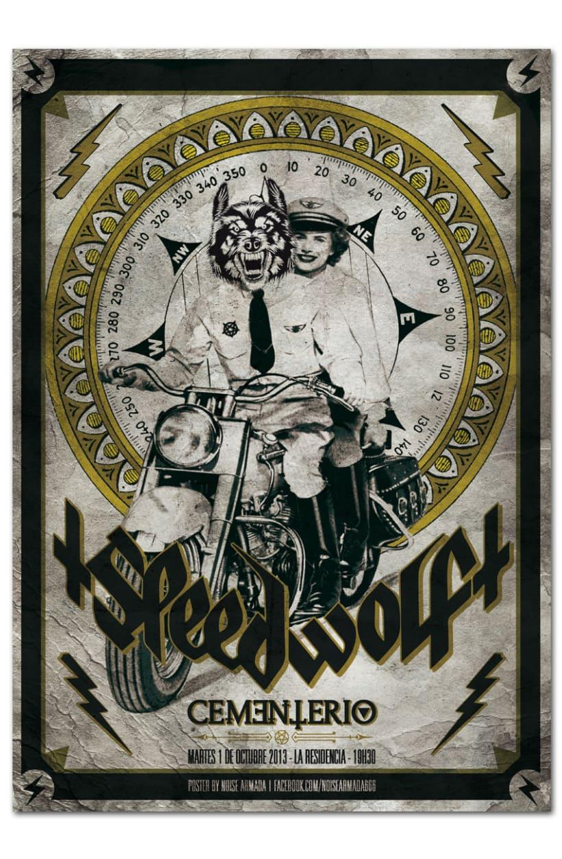 SPEEDWOLF + CEMENTERIO | poster -1