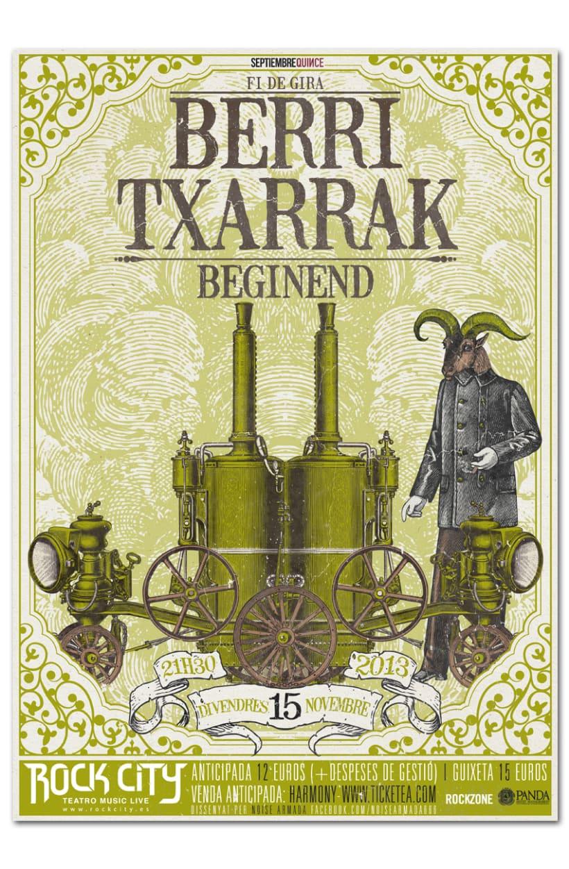 BERRI TXARRAK + BEGINEND | poster & plus 0