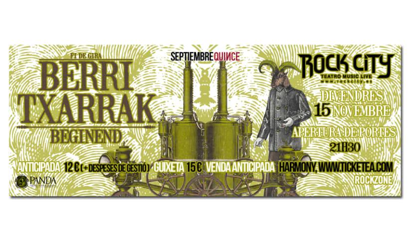 BERRI TXARRAK + BEGINEND | poster & plus 3