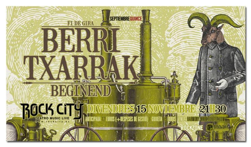 BERRI TXARRAK + BEGINEND | poster & plus 2