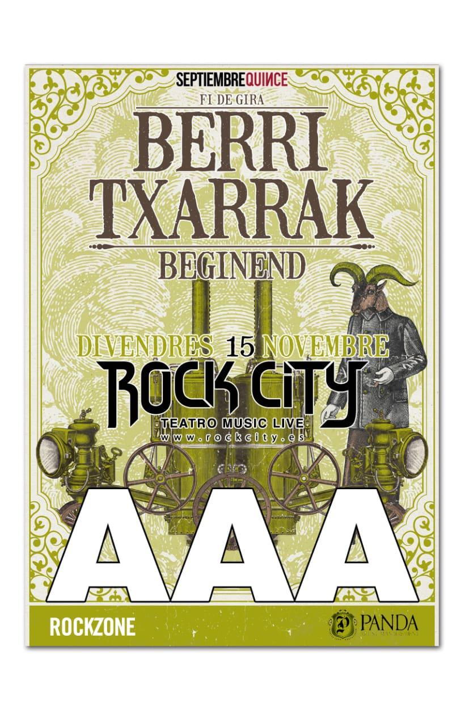 BERRI TXARRAK + BEGINEND | poster & plus 4