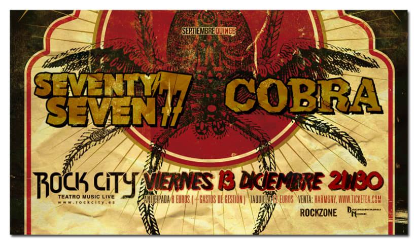 77 + COBRA | poster & plus 1
