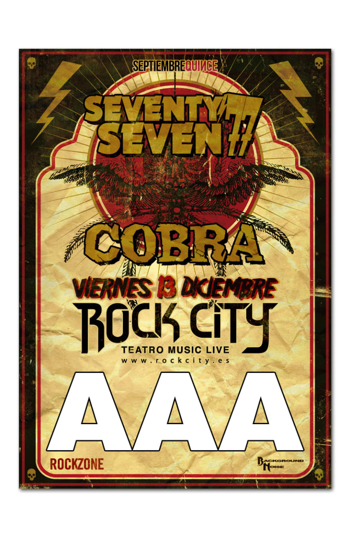 77 + COBRA | poster & plus 4