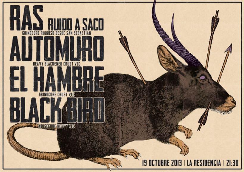 RAS + AUTOMURO + EL HAMBRE + BLACK BIRD | poster 0