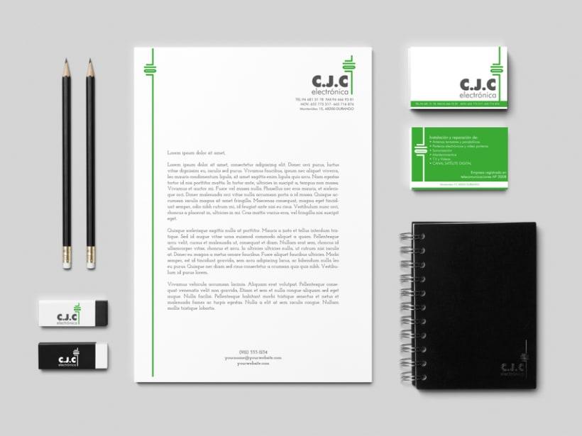 Rediseño de la imagen corporativa de C.J.C. ELECTRÓNICA 0