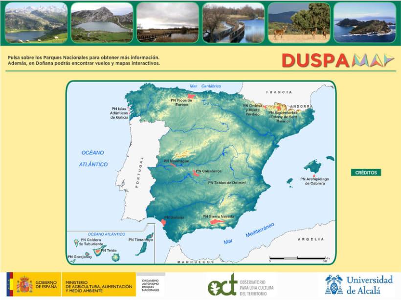 Proyecto DUSPAMAP. Diseño web y de logotipo 2