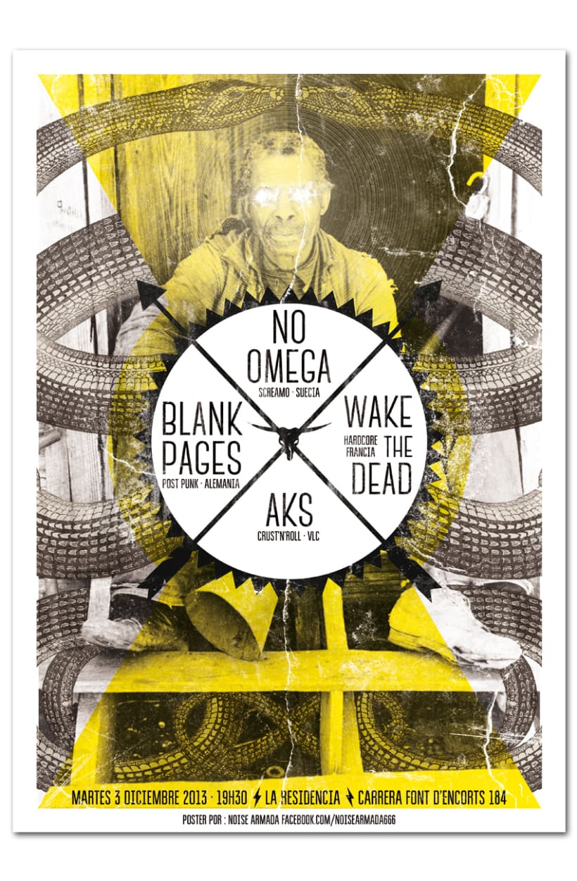NO OMEGA + WAKE THE DEAD + BLANK PAGES + AKS | poster 0