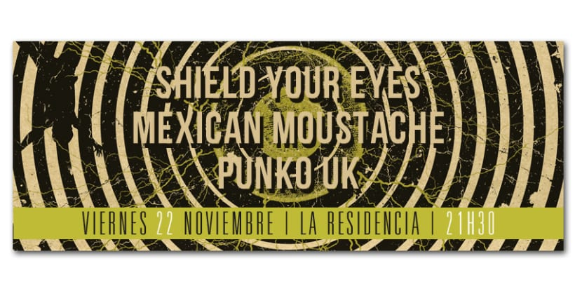 SHIELD YOUR EYES + MEXICAN MOUSTACHE + PUNKO UK | poster 1