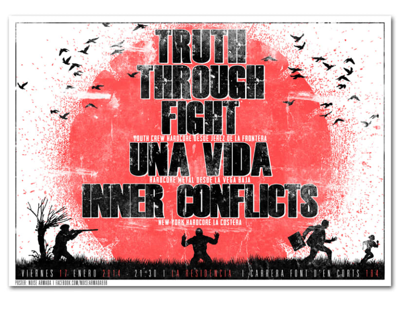 TRUTH THROUGH FIGHT + UNA VIDA + INNER CONFLICTS | poster -1