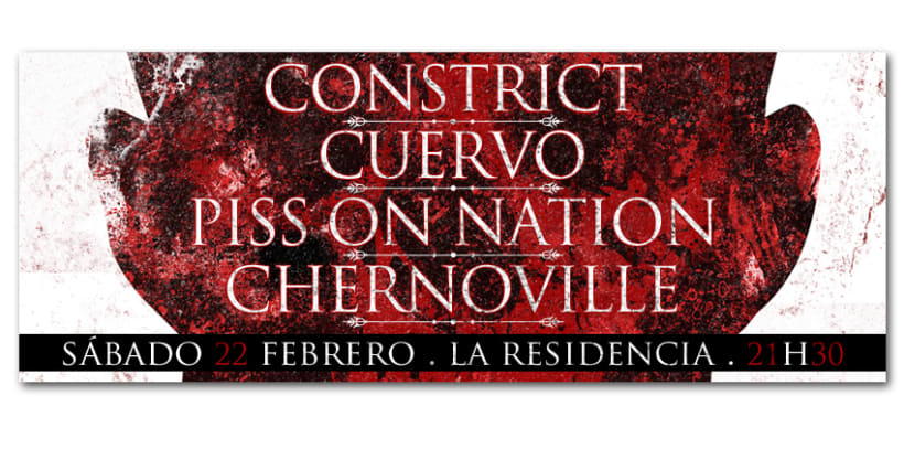 CONSTRICT + CUERVO + PISS ON NATION + CHERNOVILLE | poster 1