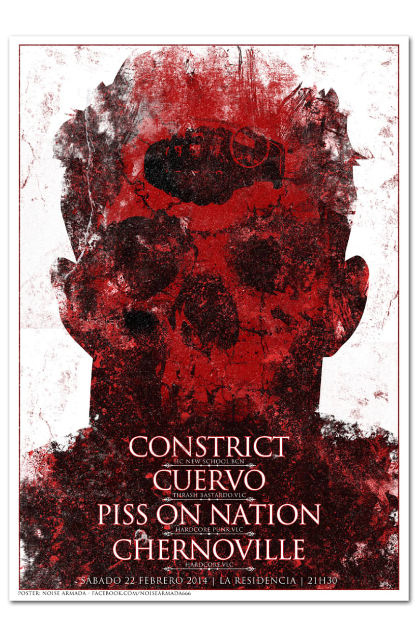 CONSTRICT + CUERVO + PISS ON NATION + CHERNOVILLE | poster 0