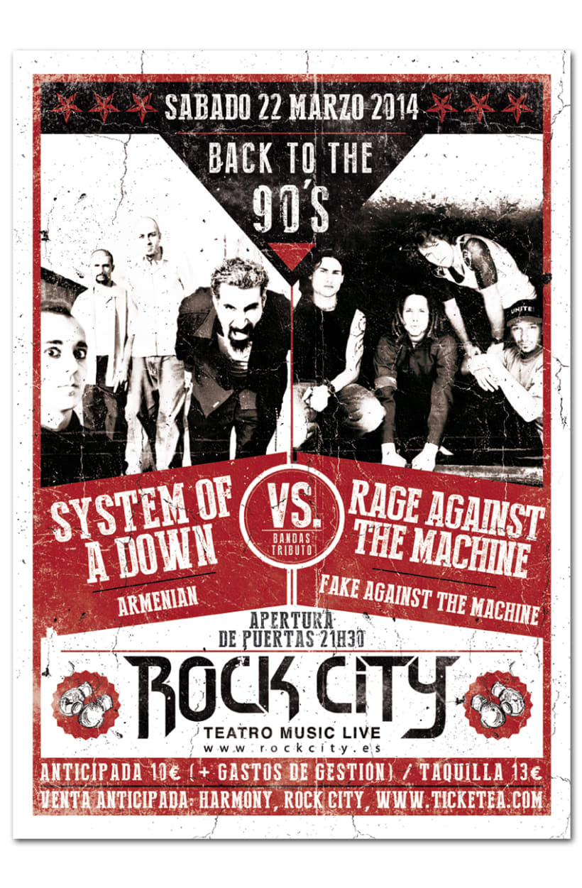 BACK TO THE 90'S | poster + ticket + cabeceras 0