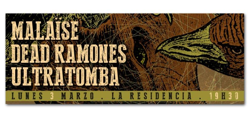 MALAÏSE + DEAD RAMONES + ULTRATOMBA | poster 1