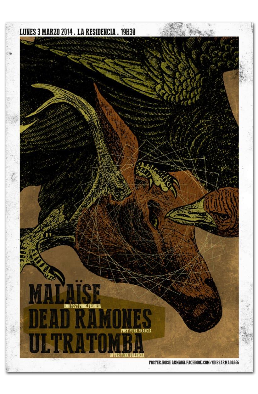 MALAÏSE + DEAD RAMONES + ULTRATOMBA | poster 0