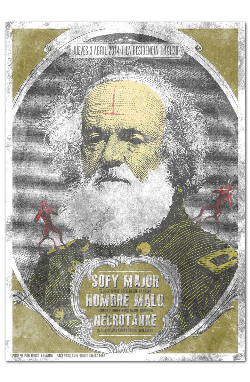 SOFY MAJOR + HOMBRE MALO + NECROTANKE | poster -1