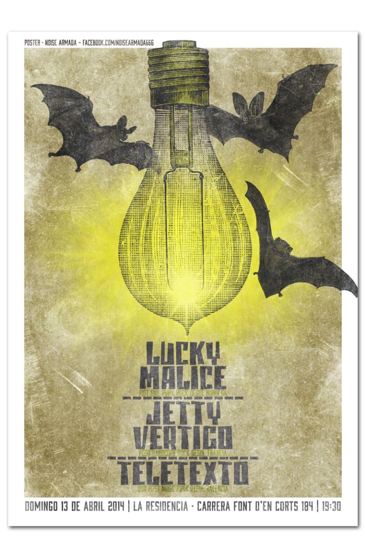 LUCKY MALICE + JETTY VERTIGO + TELETEXTO | poster -1