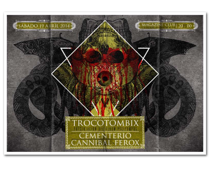 TROCOTOMBIX + CEMENTERIO + CANNIBAL FEROX | poster 0