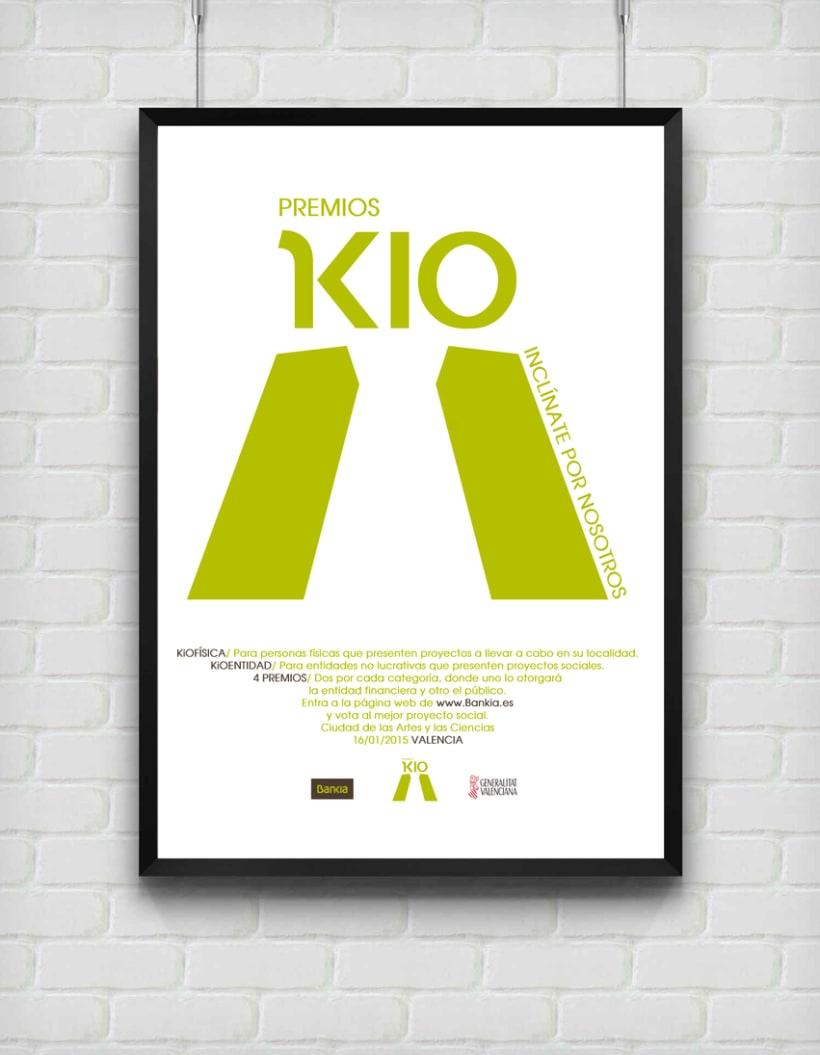 Póster/ Premios Kio para la entidad bancaria Bankia 0