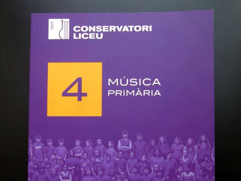 Libro escolar de música - Conservatori del Liceu de Barcelona 1