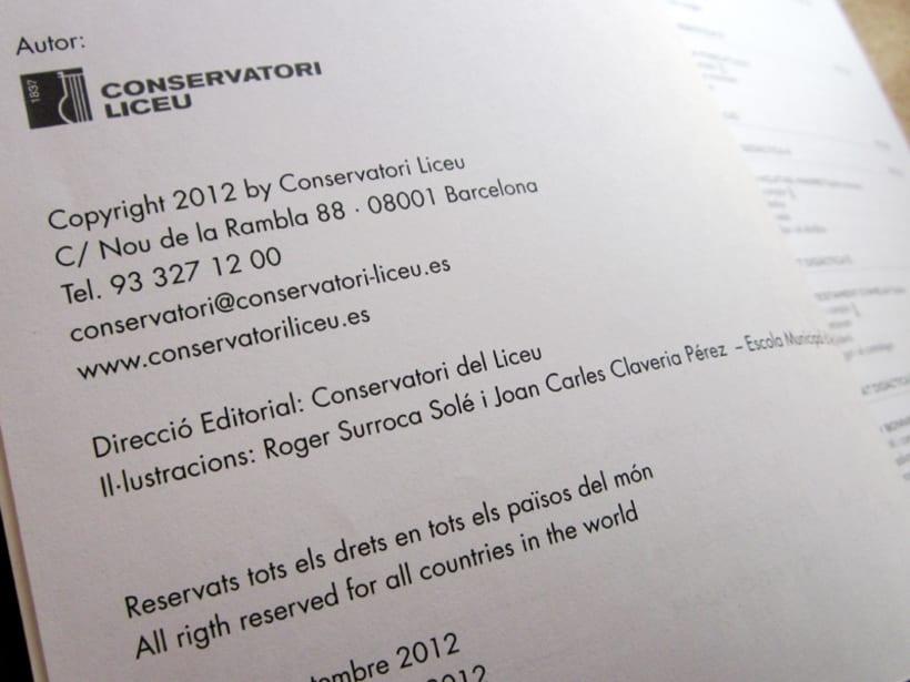 Libro escolar de música - Conservatori del Liceu de Barcelona 5