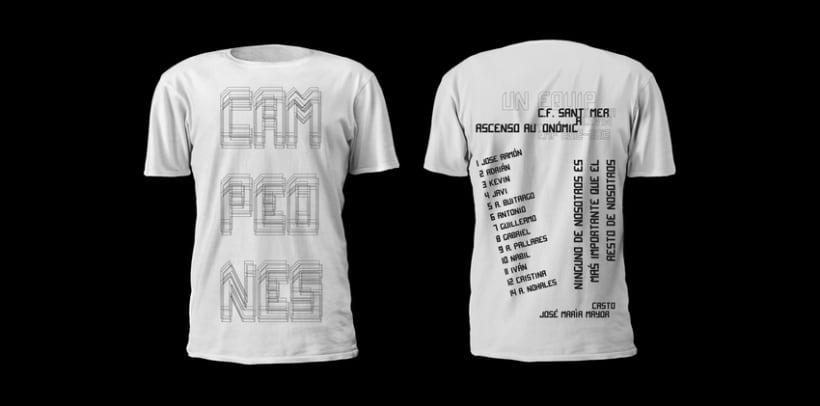 Camiseta campeones /Alevín CF.Santomera 0