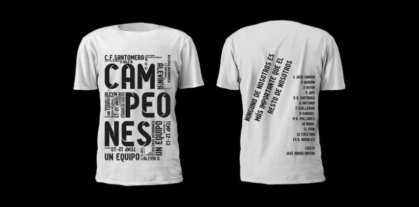 Camiseta campeones /Alevín CF.Santomera 1